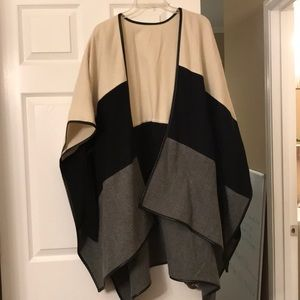 Ann Taylor belted cape